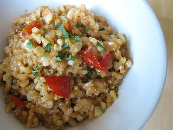 Corn and Tomato Risotto
